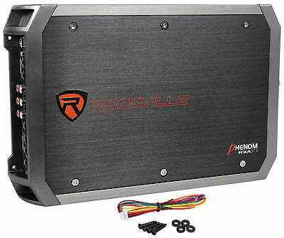 New Rockville RXA-F1 1600 Watt Peak/800w RMS 4 Channel Amplifier Car Stereo Amp