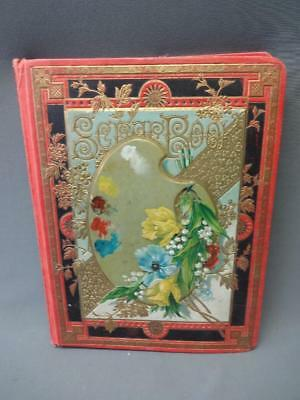 Vintage Antique Scrapbook Early 20th Century Crafting Book Art Journal