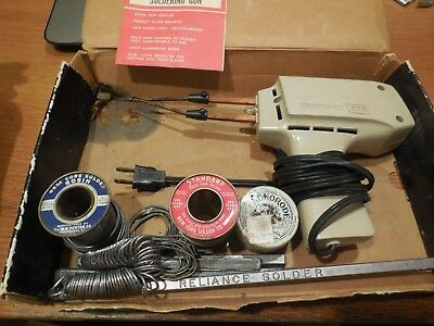 Vintage Craftsman Dual Heat 200 Soldering Gun with Original Box, Solder etc.