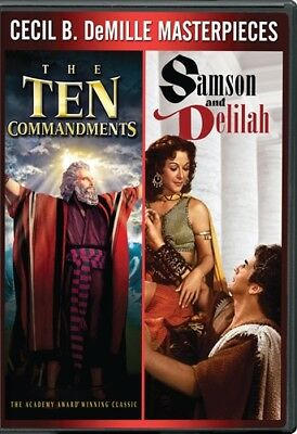 THE TEN COMMANDMENTS 1956 + SAMSON AND DELILAH 1949 New Sealed DVD
