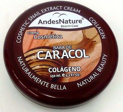 Andes Nature Snail Extract and Collagen Cream 5.1 oz- Crema De Baba De Caracol