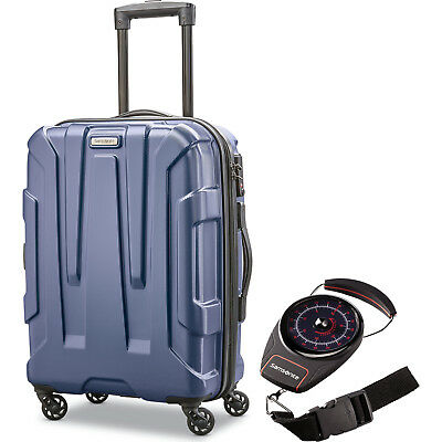 "Samsonite Centric Hardside 20"" Carry-On Luggage, Navy w/ Portable Luggage Scale"