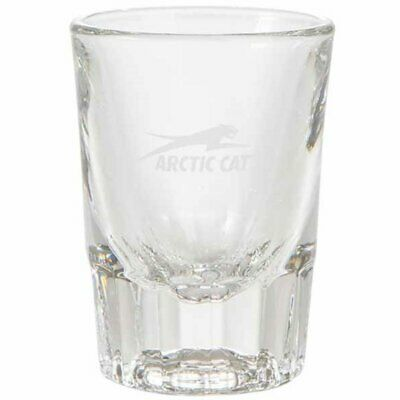 Arctic Cat Etched Aircat Logo Shot Glass Shooter - Clear Glass - 5253-212