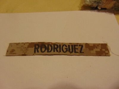 Military Patch Us Army Name Tape Tag Sew On Desert Camo Rodriguez