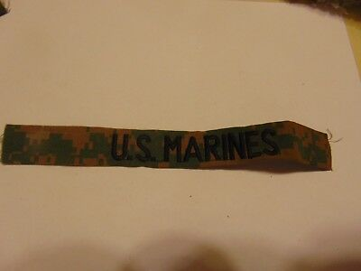 Military Patch Us Marine Corps Name Tape Tag Sew On Marpat Us Marines