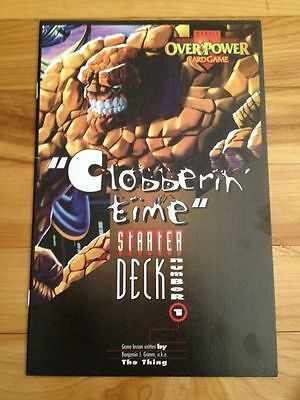 """Overpower cardgame promo  Comic 1995 -the thing - """"Clobberin'' Time """""""