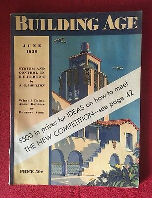 July 1930/ Building Age Magazine/ 500 Prize w/ Working Drawings/ House Builder