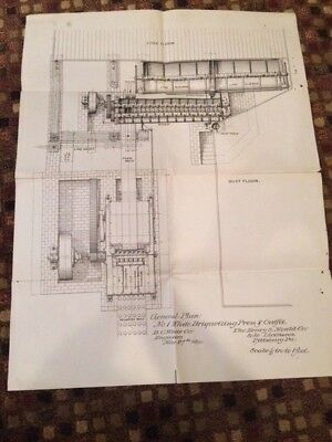 1900 Henry S. Mould Co. No.1 White Briquetting Press & Outfit General Plan