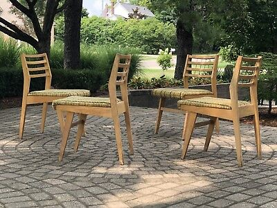 Vintage Mid Century Modern Four Dining Oak Chairs