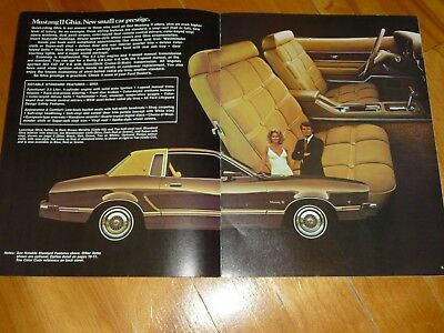 Mustang Ii Ford 1975 Mach 1 Ghia Brochure Catalog Original Vintage Dealer Sales