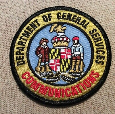 MD Maryland Dept. of General Services Communications Patch (3In)