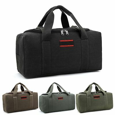 Military Canvas Duffle Gym Bag Sports Travel Luggage Handbag Tote Shoulder Bag