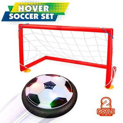 Kids Toys Hover Soccer Ball Set with 2 Goals Gift Football Disk Toy LED Light US