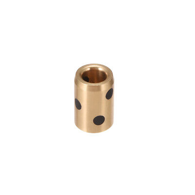 Sleeve (Plain) Bearings, 6mm Bore x 10mm OD x 15mm Length Cast Brass Bushings