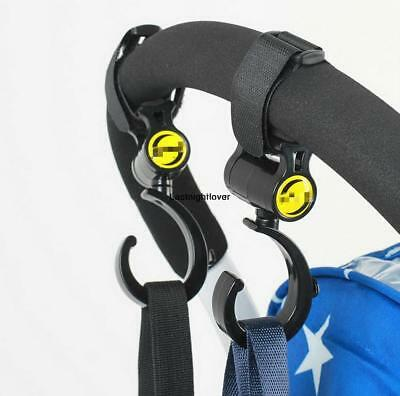 2 Pcs 360° Rotating Multi-Purpose Stroller Hook Stroller Hanging ILOE