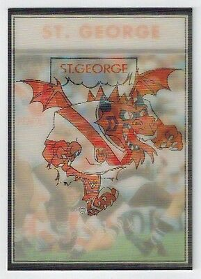 NSW Rugby League Colourgram (1992) - Collector Card  - St George