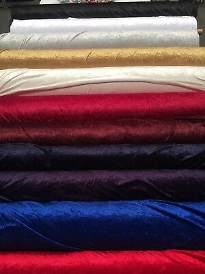 CRUSHED PANNE VELVET FABRIC: 150cm wide :  $6.99 per metre