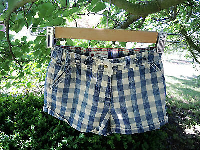 Really Cute UNISEX Navy Check AMERICAN OUTFITTERS Summer Shorts Size 4