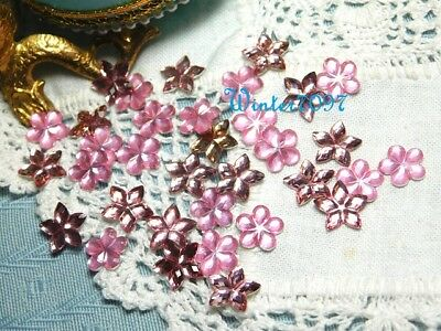 (68)*costume Makers Sellout**flat Back Rhinestones**pink*flowers*new!