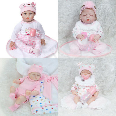 Vinyl Silicone Reborn Doll Real Life Like Looking Newborn Baby Dolls Gift Xmas