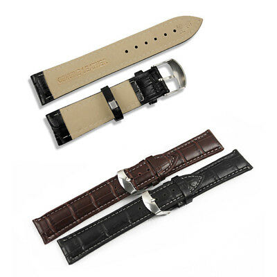 3 Colors PU leather Watch Wrist Band Breathable Durable Strap 16mm 20mm 22mm CV