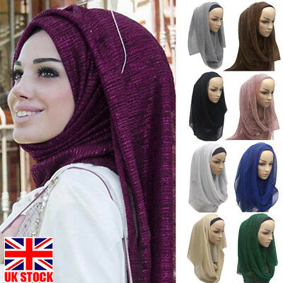 Winter Neck Head Scarf Jersey Stretchy Hijab Large Women Maxi Shawl Wrap Sarong