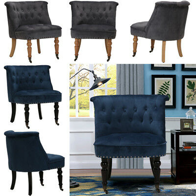 Aged Castors Desgin Fabric Armchair Modern Single Seat Dinging Chair Lounge Home