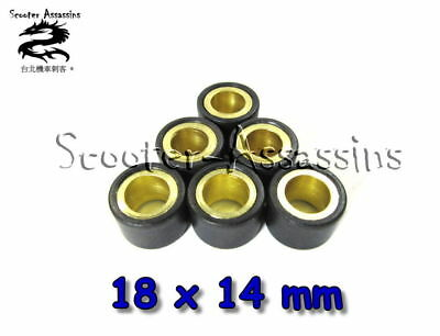 SET of 6 ROLLER WEIGHTS 18x14 for HONDA,SYM,KYMCO,and CHINESE 125cc