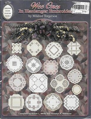 GUC Wee ones in hardanger embroidery mildred Torgerson PB book USA vintage 1999