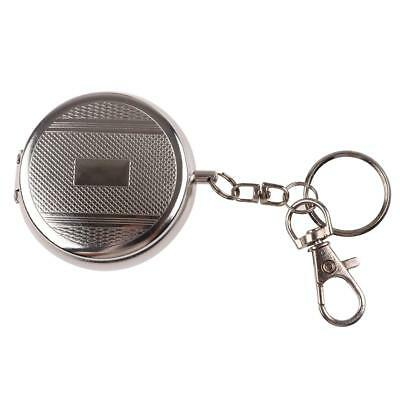 Mini Round Portable Stainless Steel Pocket Cigar Cigarette Ashtray with Keychain