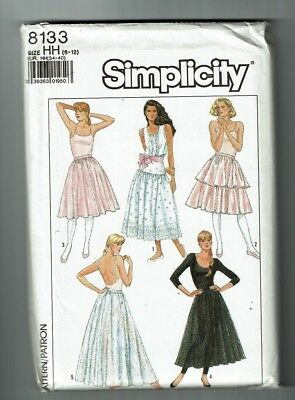 Simplicity #8133 VTG Skirts and Petticoats in 3 lengths Pattern Sz 6-12 UC