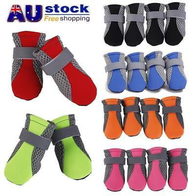 AU Pet Dog Shoes Waterproof Anti Slip Shoes Protective Rain Boots Booties Sock