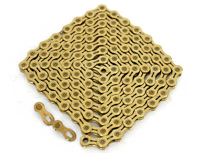 PYC SP1001 10S Bike Hollow Chain 116L TiN Gold Only 252g Lighter than KMC X10SL