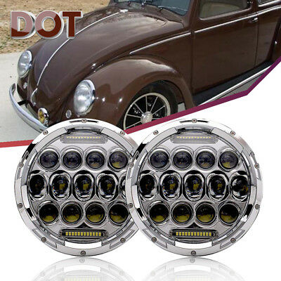 7 Inch Led 150W Total Headlight Running Light Fit Volkswagen VW Beetle Classic