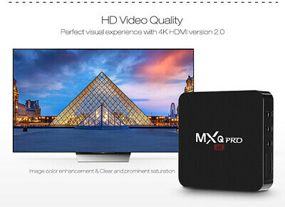 Mxq Pro Android 7.1 Quad Core Xbmc Internet Tv Smart Box 2Gb 16Gb Decoder Iptv
