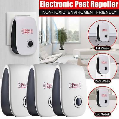 3X Whole House Electronic Rat Mouse Mice Spider Pest Re peller Deterrent Reject