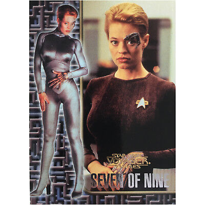 Star Trek Voyager Profiles Seven of Nine Sonderkarte 9of9 Mint Trading Cards