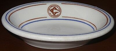 Commercial Club Honolulu Hawaii fruit bowl dish Wallace China 1956 Rotary