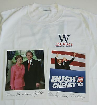 Vintage George W Bush 2000 T Shirt L - Photos