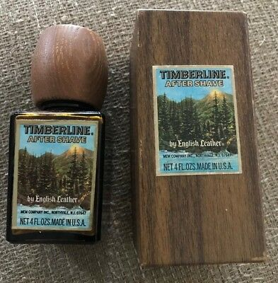 Vintage Timberline After Shave by English Leather 4 oz EMPTY Bottle in Box