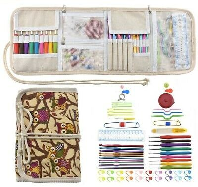 Crochet Hook Set Ergonomic Handles Sewing Accessories With Case Organizer Supply