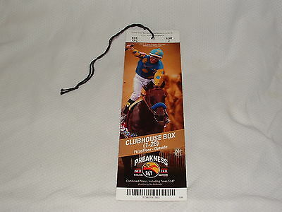 2016 Preakness Stakes Horse Race Ticket Exaggerator - American Pharoah On Cover