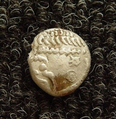 VERY RARE ANCIENT CELTIC AR SILVER STATER DUROTRIGES 1st CENTURY AD - B117