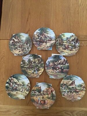 Set Of 8 Wedgwood 'Country Days' Collectors Plates With Boxes And Certificates