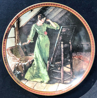 "Norman Rockwell's ""Quiet Reflections"" Plate ~ 1991"