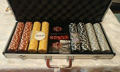 FULL THROTTLE Energy Drink Coca Cola Casino Poker Set Chips Cards Case Dice WOW