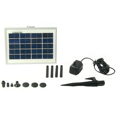Sunnydaze Solar Pump and Panel Kit with 6 Spray Heads and 47-Inch Lift - 79 GPH