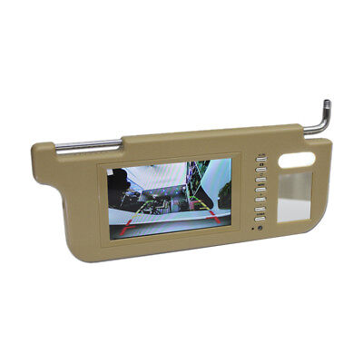"""DVD Player&Car 7"""" Car Sun Visor LCD Monitor 2 Channel Video For Rearview Camera"""