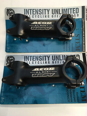 """Acor 1.1//8/"""" High Rise 3D Forged Alloy Ahead Stem in Black and Various Sizes"""