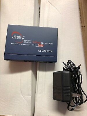Linksys Network Everywhere NH1005-WM Fast Ethernet NIB  5 Port Hub Home Office